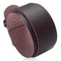 Herren-Armband & Bangle, Kunstleder, mit Eisen, plattiert, für den Menschen, keine, 32x45mm, verkauft per 12.4 ZollInch Strang