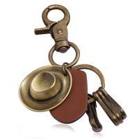 Zinklegierung Schlüssel Verschluss, Kunstleder, mit Zinklegierung, plattiert, 120mm, verkauft von PC