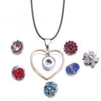 Zinklegierung Schnellknopf Halskette, plattiert, unisex & verschiedene Stile für Wahl, keine, frei von Nickel, Blei & Kadmium, verkauft von PC