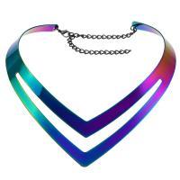 Mode-Halskette, Zinklegierung, plattiert, unisex, frei von Nickel, Blei & Kadmium, 530x36mm, Länge:20.86 ZollInch, verkauft von PC