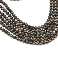 Bronzit Stein Perlen, poliert, DIY & verschiedene Größen vorhanden, Kaffeefarbe, verkauft von Strang