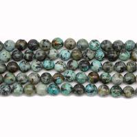 Türkis Perlen, Naturstein, mit Türkis, poliert, DIY & verschiedene Größen vorhanden, verkauft von Strang