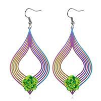 Zinklegierung Ohrringe, plattiert, für Frau, frei von Nickel, Blei & Kadmium, 78x35mm, verkauft von Paar