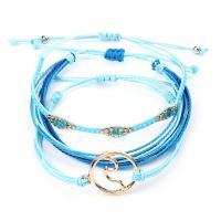 Mode Wachsschnur Armbänder, gemischte Farben, 15+5CM, verkauft von setzen