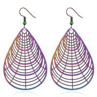 Edelstahl Tropfen Ohrring, plattiert, für Frau & hohl, keine, 42x60mm, 5PaarePärchen/Tasche, verkauft von Tasche