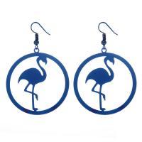 Edelstahl Tropfen Ohrring, plattiert, für Frau, keine, 45x48mm, 5PaarePärchen/Tasche, verkauft von Tasche