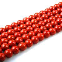 Natürlich rote Achat Perlen, Roter Achat, rund, poliert, DIY & verschiedene Größen vorhanden, rot, verkauft per ca. 15 ZollInch Strang