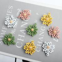 Zinklegierung Blume Anhänger, goldfarben plattiert, Einbrenn-Lack & hohl, keine, 20x23mm, 100PCs/Menge, verkauft von Menge