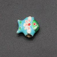 Imitation Cloisonne Zink Legierung Perlen, Zinklegierung, DIY & Emaille, keine, frei von Nickel, Blei & Kadmium, 9x9mm, 10PCs/Tasche, verkauft von Tasche