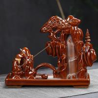 Porcelain Backflow Incense Burner, Porzellan, handgemacht, 195x75x150mm, verkauft von PC