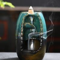 Porcelain Backflow Incense Burner, Porzellan, handgemacht, 90x90x132mm, verkauft von PC