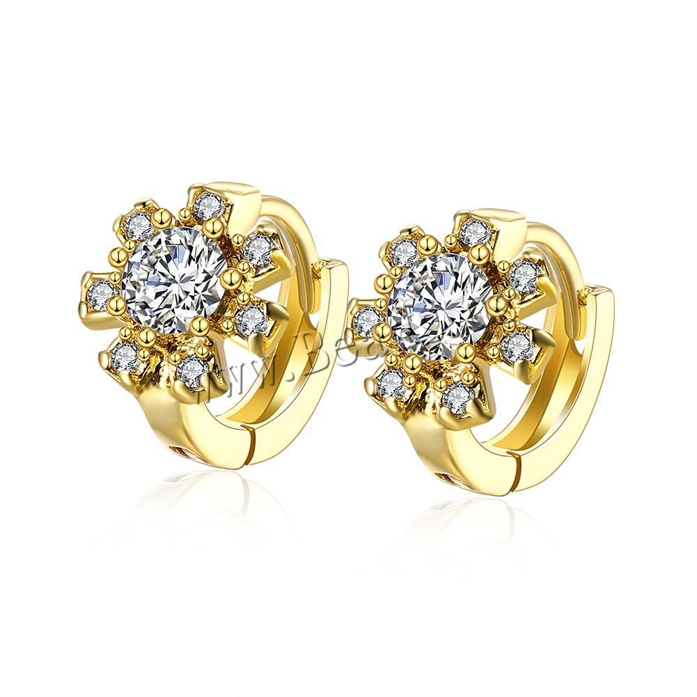 Pendiente joyer a comeon metal flor chapado en oro for Metal rodio en joyeria